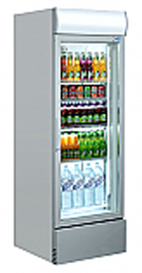 Single Door Upright Cooler (Grey)