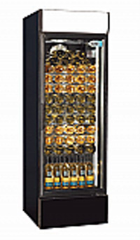 CX407 Single Door Upright Wine Cooler (Black)
