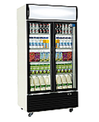Upright Cooler Double Door White SLIDING  800L