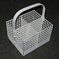 Cutlery Basket With Handle, 4 Sections