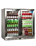 Stainless Steel Double Hinged Door Bottle Cooler
